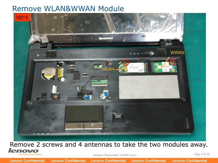 Remove WLAN&WWAN Module