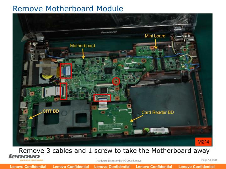 Remove Motherboard Module