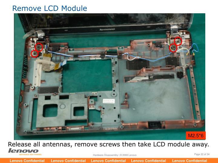 Remove LCD Module