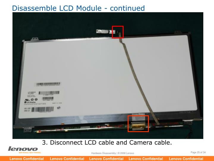 Disassemble LCD Module - continued