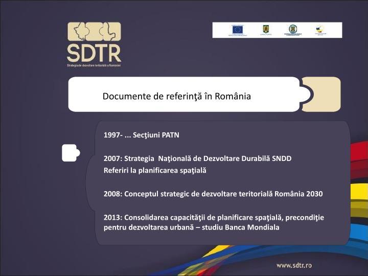 Documente de referinţă în România