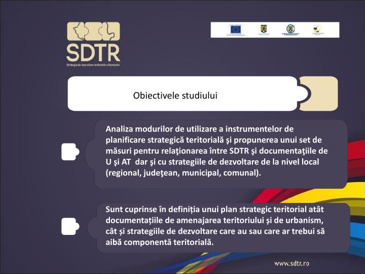 Obiectivele studiului