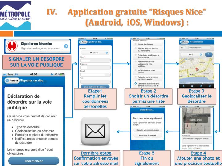 "Application gratuite ""Risques Nice"""