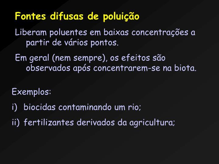 Fontes difusas de poluio