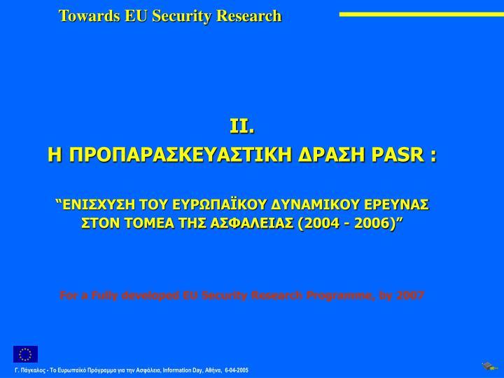 Towards EU Security Research
