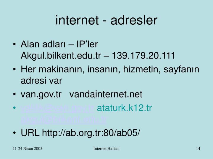 internet - adresler
