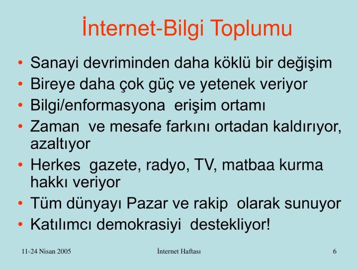 İnternet-Bilgi Toplumu