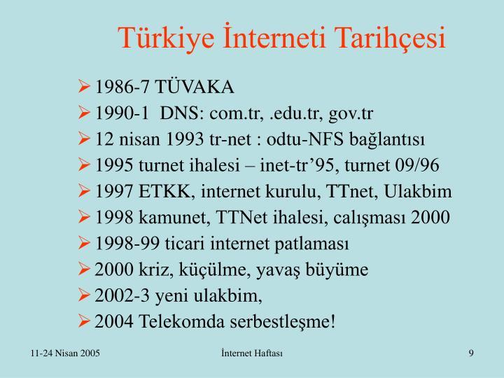 Türkiye İnterneti Tarihçesi