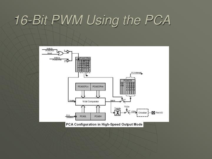 16-Bit PWM Using the PCA