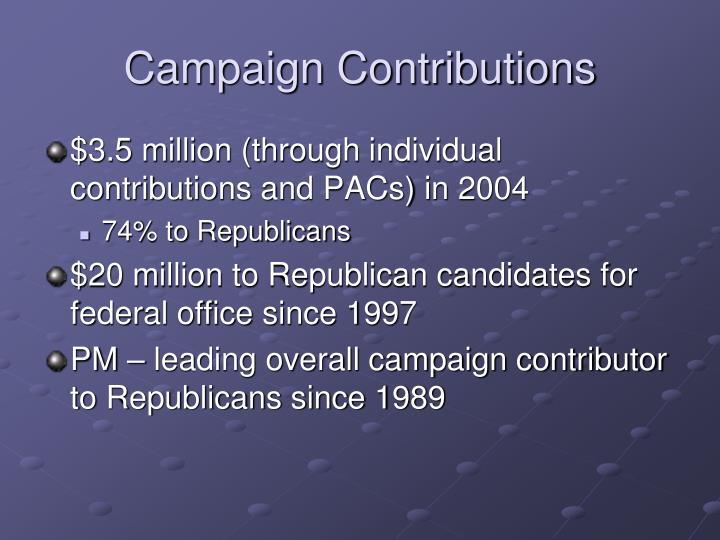 Campaign Contributions