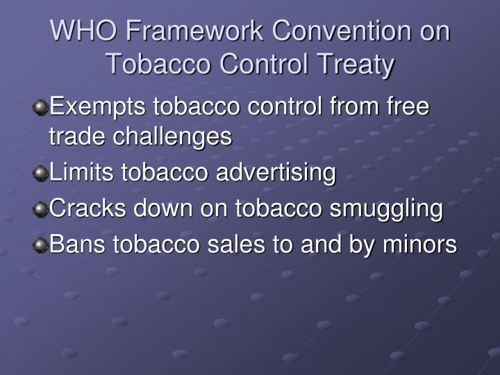 WHO Framework Convention on Tobacco Control Treaty