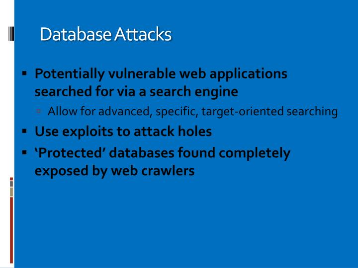 Database Attacks