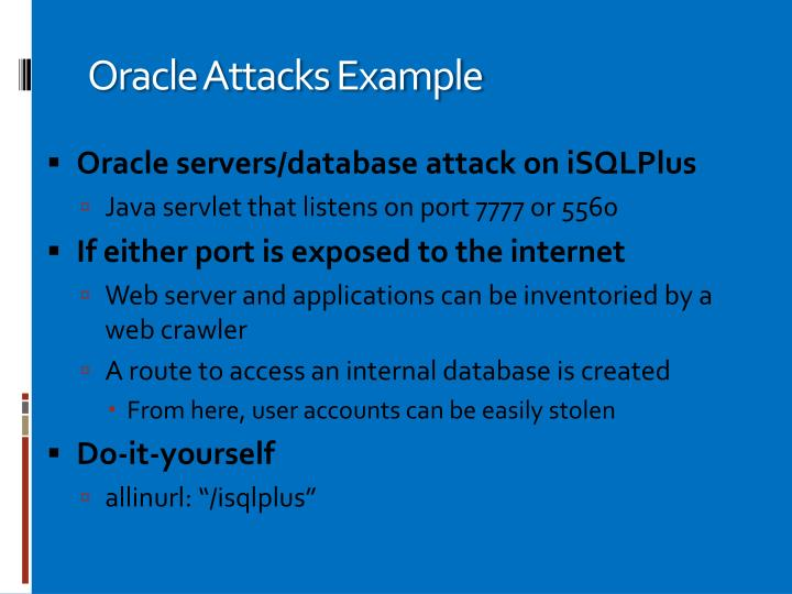 Oracle Attacks Example