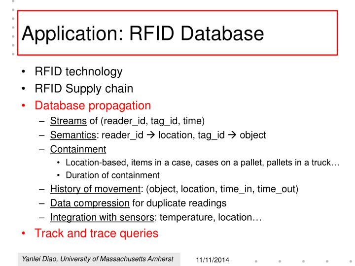 Application: RFID Database