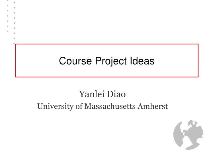 Course project ideas
