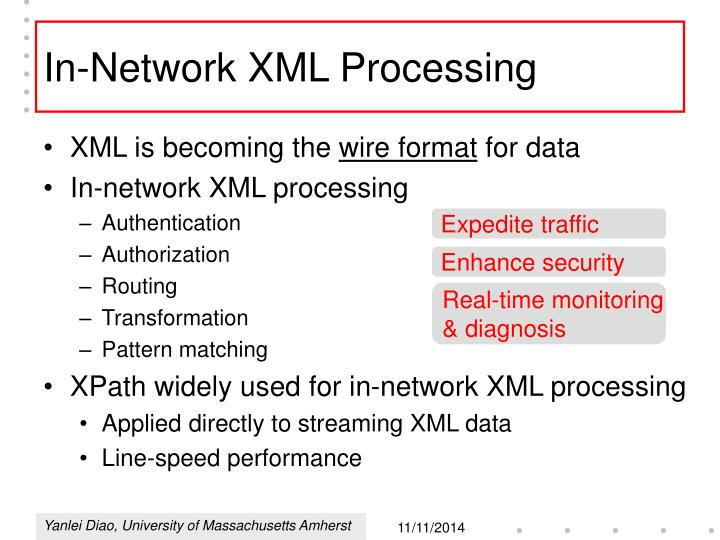 In-Network XML Processing