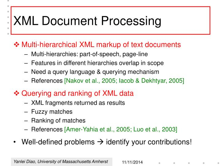XML Document Processing