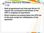 direct memory access 1 9