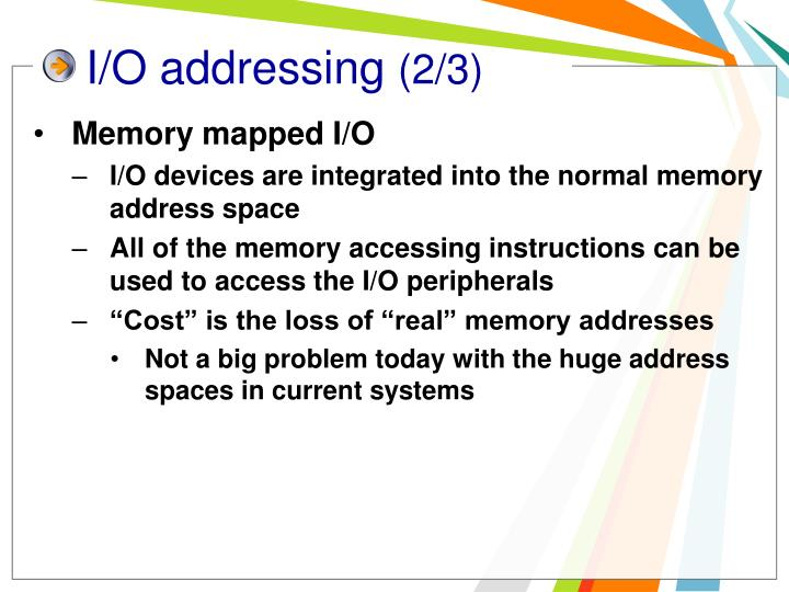 I/O addressing