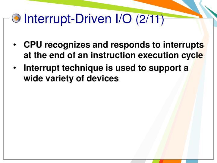 Interrupt-Driven I/O