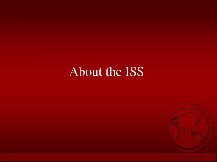 About the ISS