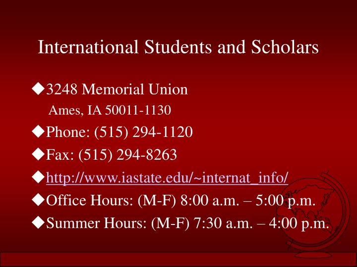 International Students and Scholars