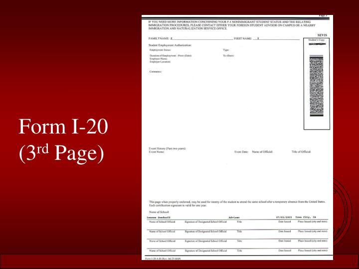 Form I-20