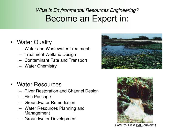 Environmental Resources Engineering