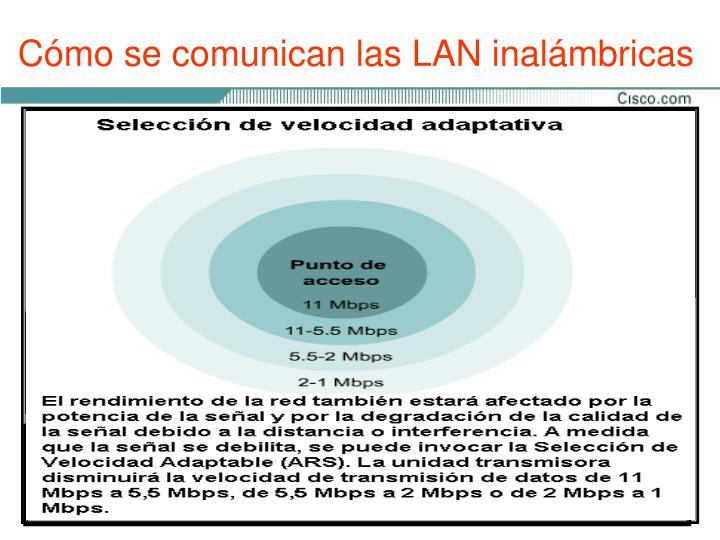 Cómo se comunican las LAN inalámbricas