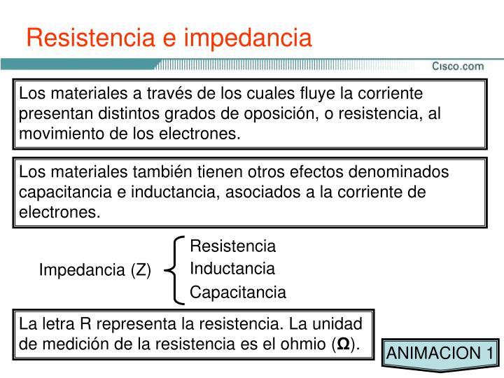Resistencia e impedancia