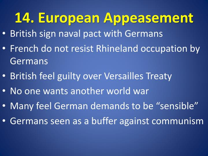 14. European Appeasement