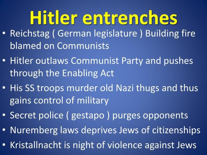Hitler entrenches