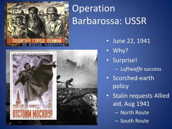 Operation Barbarossa: USSR