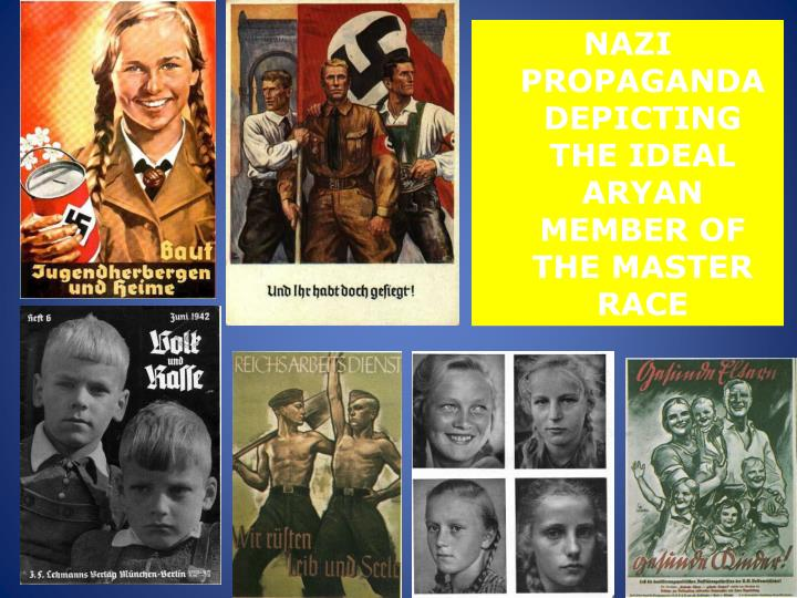 NAZI PROPAGANDA DEPICTING THE IDEAL ARYAN MEMBER OF THE MASTER RACE