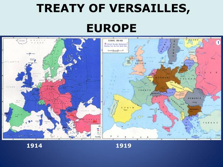 TREATY OF VERSAILLES,