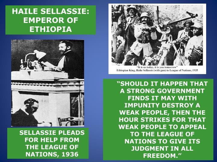 HAILE SELLASSIE: EMPEROR OF ETHIOPIA