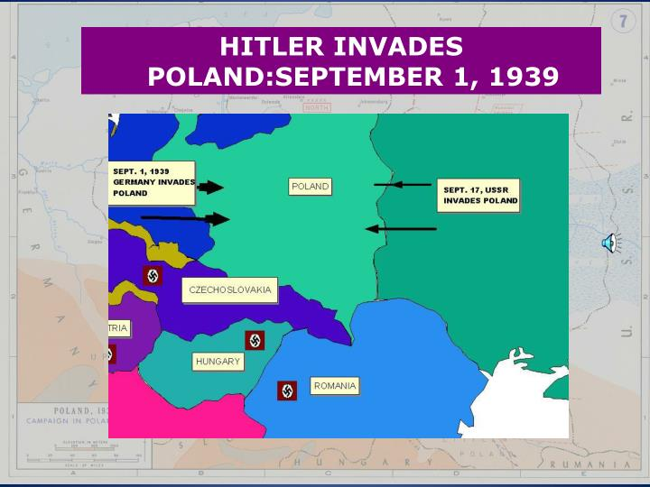 HITLER INVADES POLAND:SEPTEMBER 1, 1939