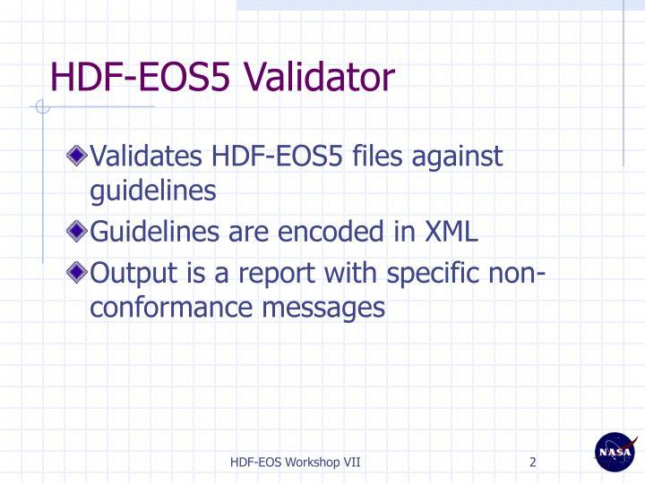 HDF-EOS5 Validator