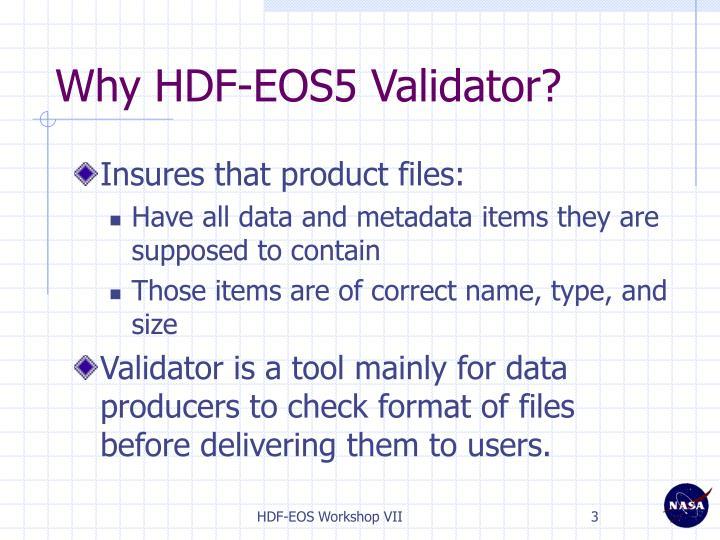 Why HDF-EOS5 Validator?