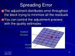 spreading error