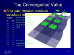 the convergence value
