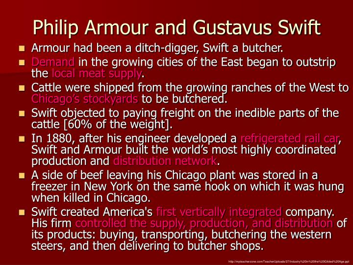 gustavus swift Chicago, march 29--gustavus franklin swift, president of the swift packing company, died at his home, 4,848 ellis avenue, early to-day of internal hemorrhages mr swift was sixty-three years old.