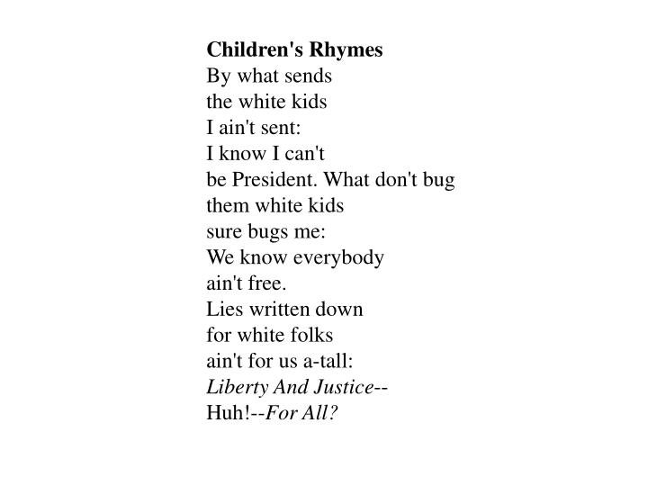 Children's Rhymes