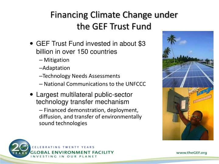Financing Climate Change under