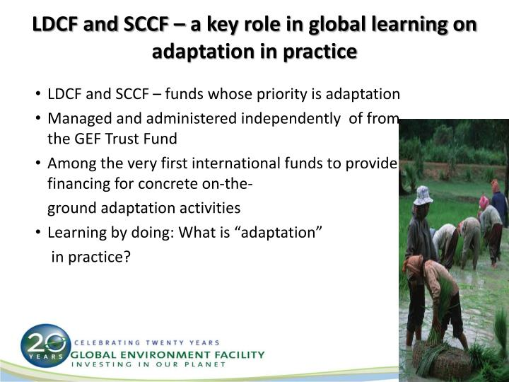 LDCF and SCCF – a key role in global learning on adaptation in practice
