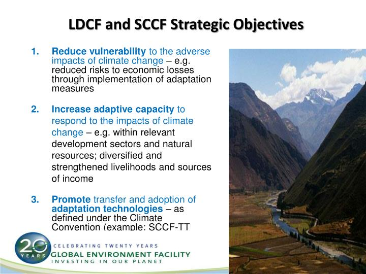 LDCF and SCCF Strategic Objectives