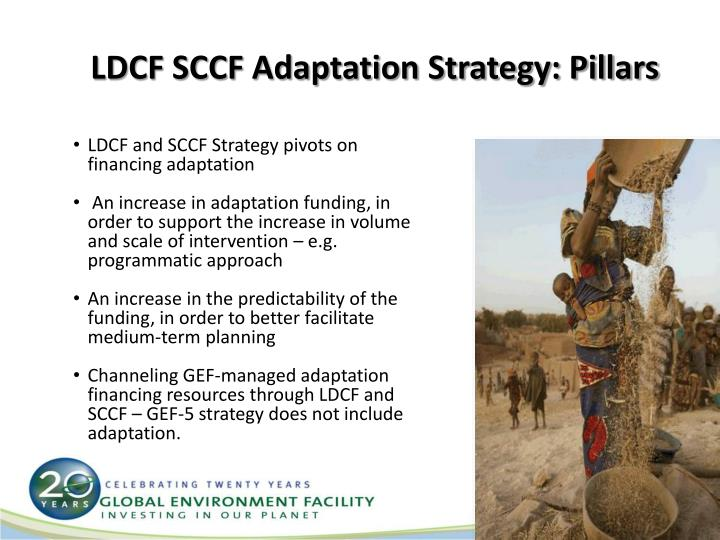 LDCF SCCF Adaptation Strategy: Pillars