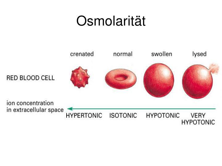Osmolarität