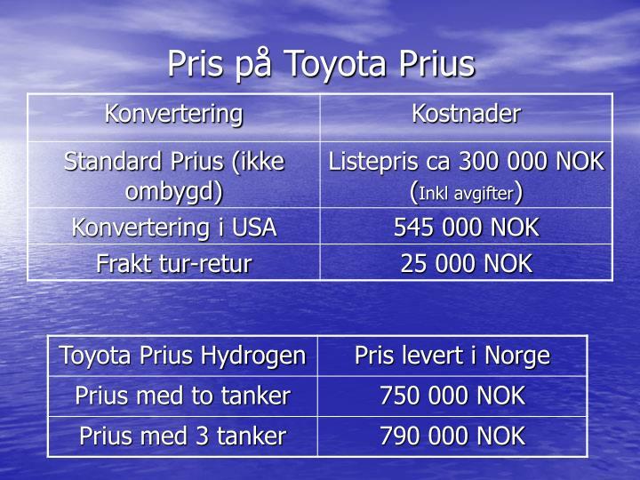 Pris på Toyota Prius