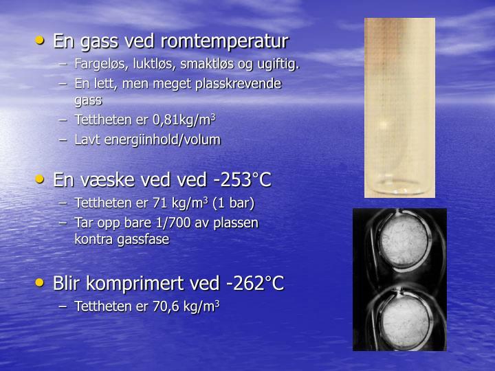 En gass ved romtemperatur